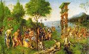 Lorenzo  Costa The Reign of Comus oil painting artist